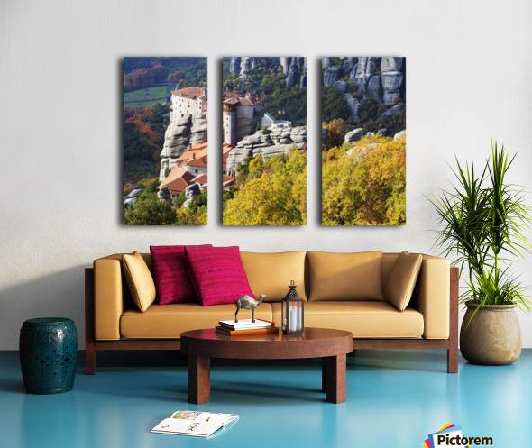 Monastery on a cliff; Meteora, Greece Split Canvas print