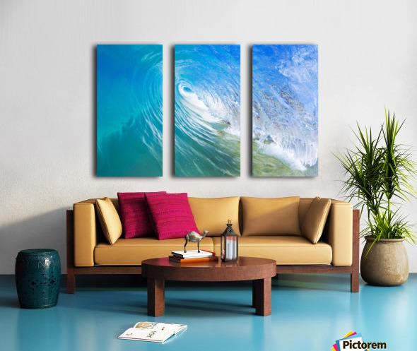 Blue Ocean Wave Split Canvas print