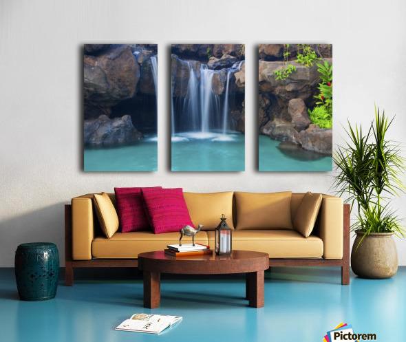 Waterfall into Resort Pool Split Canvas print