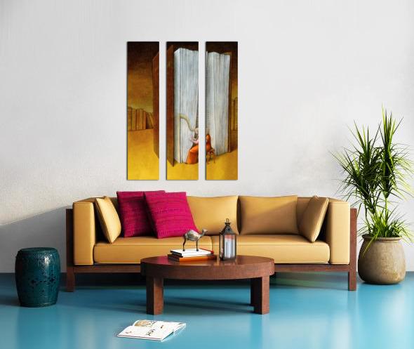 harp Split Canvas print
