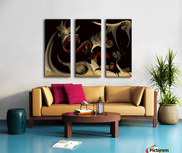 Memories of Invisible Reality Split Canvas print