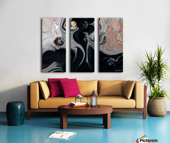 Act with Mystic Abstraction Split Canvas print