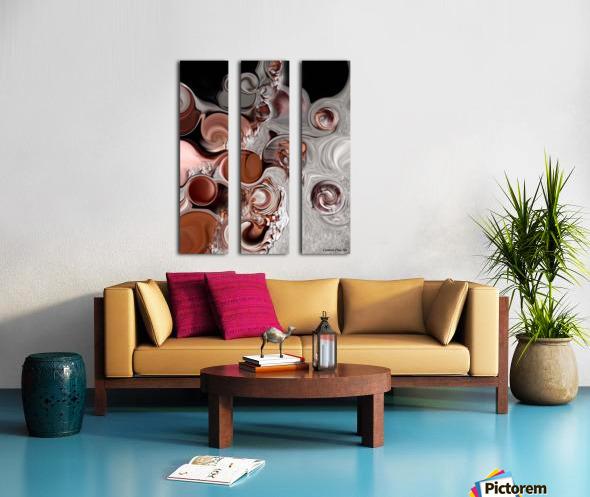 Fragment of Modern Contrast Split Canvas print