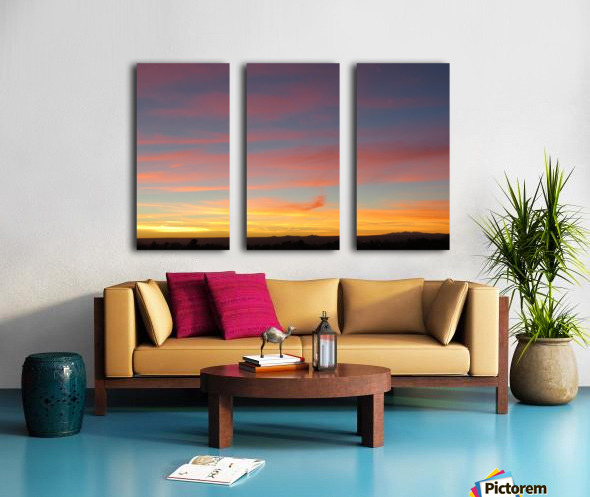 Amazing Sunset 4VP Split Canvas print