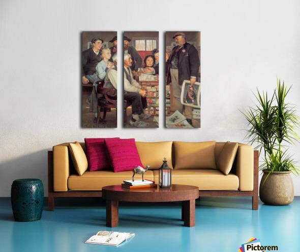 A large family Split Canvas print