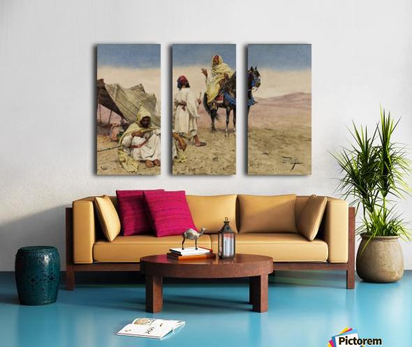 Nomades du desert Split Canvas print