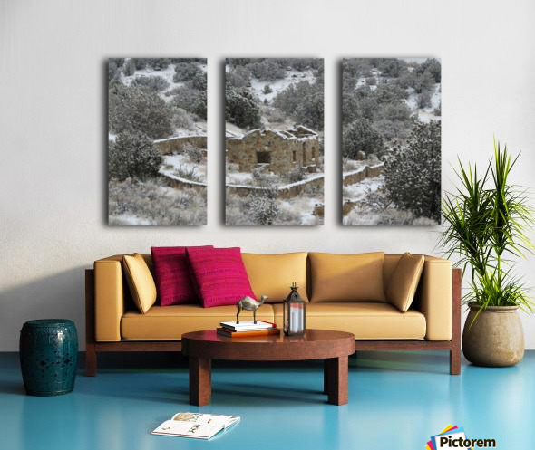 Ruins - Juan Tabo in Snow 2VP Split Canvas print