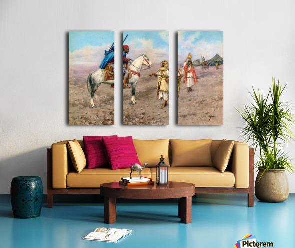 A desert camp Split Canvas print