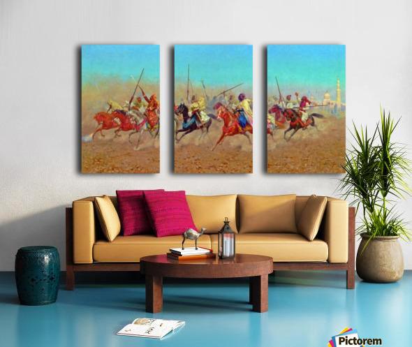 Charging Horsemen Split Canvas print