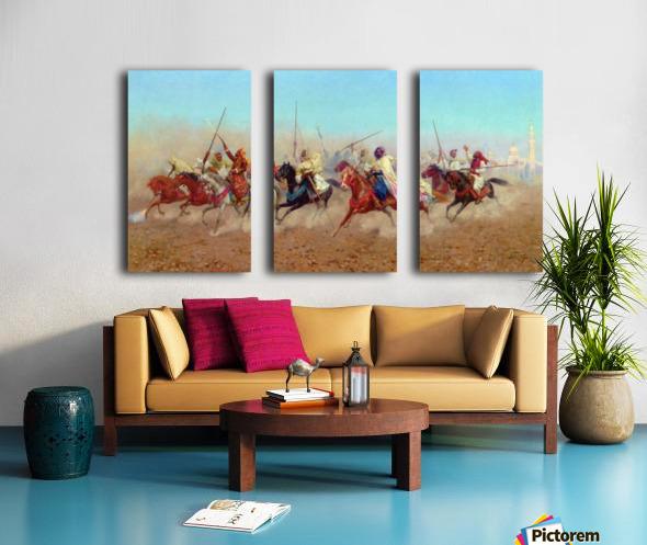 Horsemen Outside The Northern Cemetery Split Canvas print