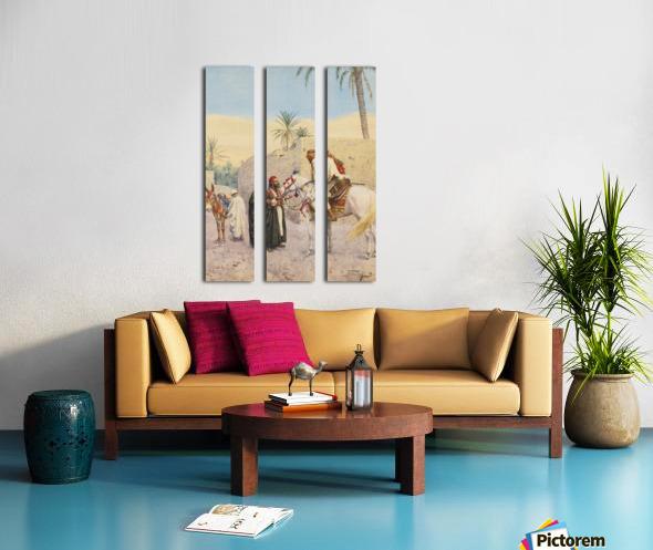 Landscape with horses Split Canvas print