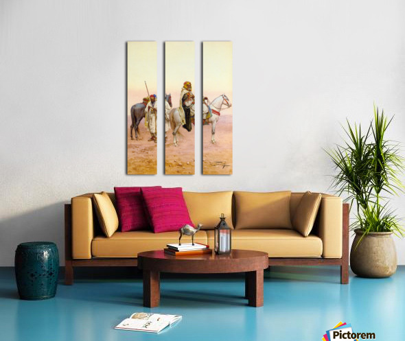 A rest in the desert Split Canvas print