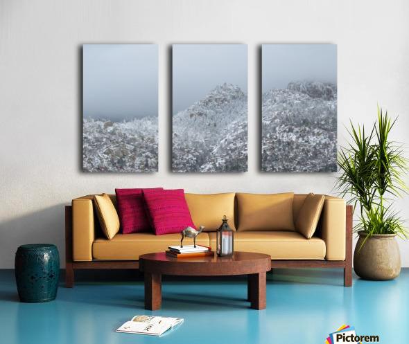 Sandia Mountains in Snow 1VP Split Canvas print