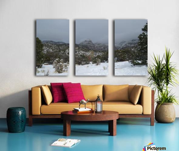 Sandia Mountains in the Snow 7 VP Split Canvas print