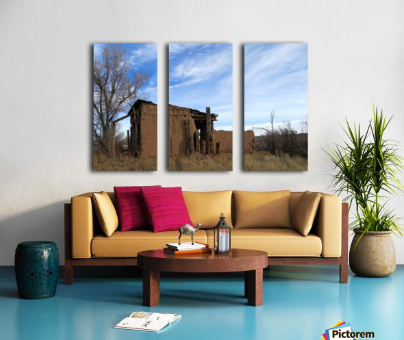 Turquoise Trail - Ruins in Golden 2VP Split Canvas print