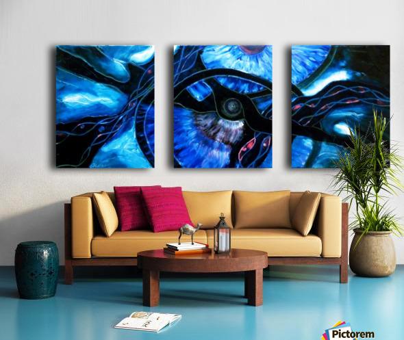 The ocean of my memory Split Canvas print