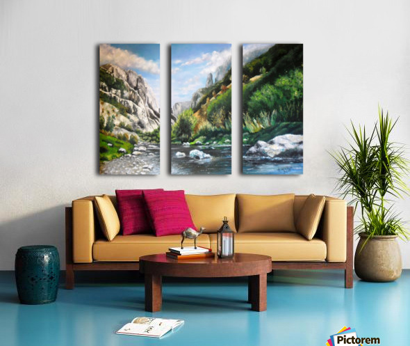 Torda-Gorge Split Canvas print