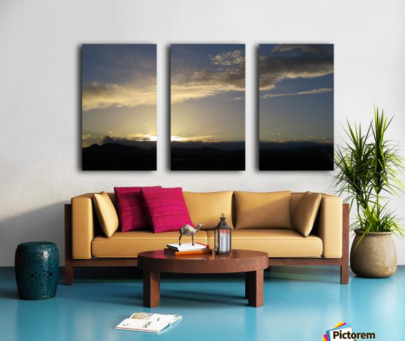 Sunset over the Mountains VP2 Split Canvas print