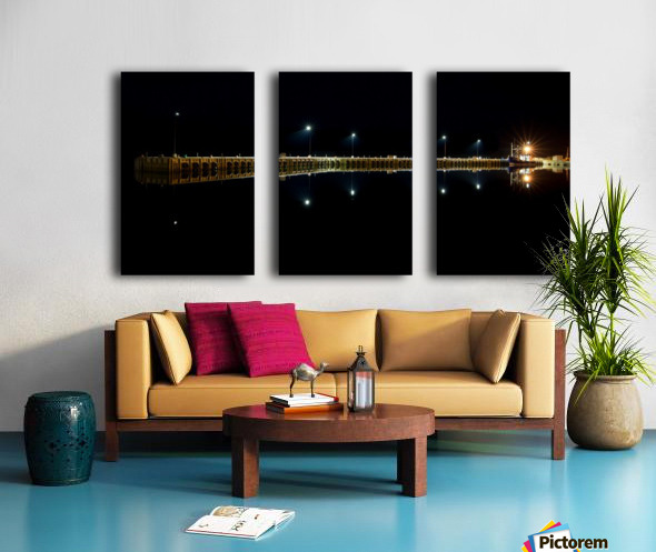 Nighttime at la Digue Split Canvas print