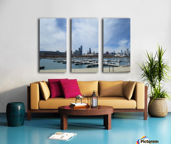 View of Burnham Harbor from Northerly Island  VP4 Split Canvas print