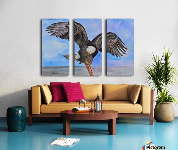 Majestic Eagle  Split Canvas print
