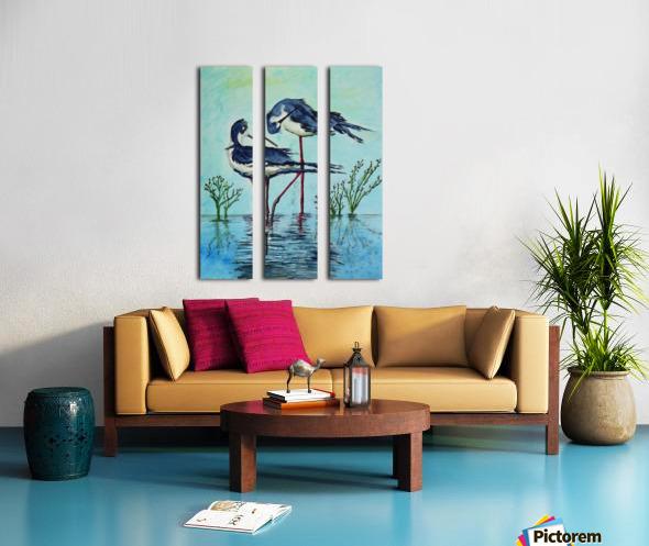Stilts Bathing  Split Canvas print