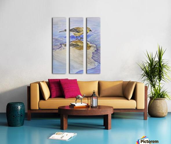 Warbler Reflection Split Canvas print