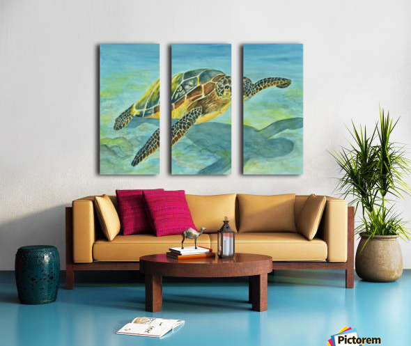 Sea Turtle Split Canvas print