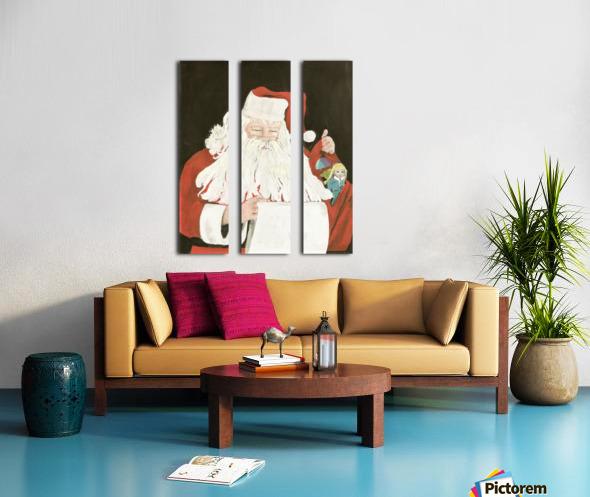 Santa making his list Split Canvas print