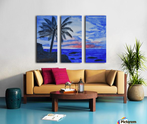 Dusk Ocean Scene Split Canvas print