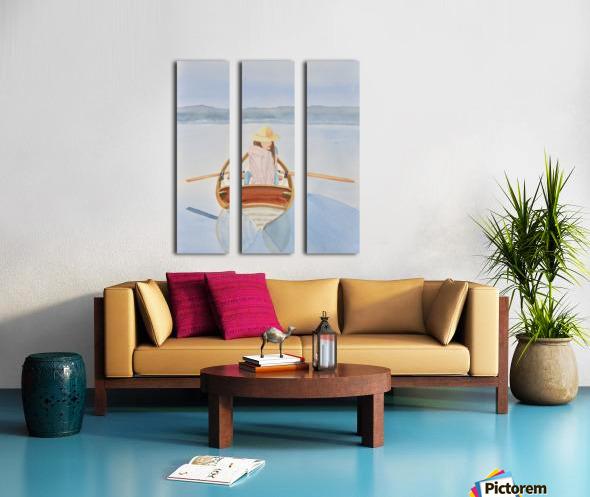 Girl in Rowboat Split Canvas print
