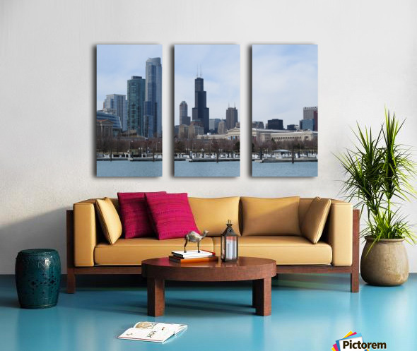 View of Chicago From Northerly Island VP2 Split Canvas print