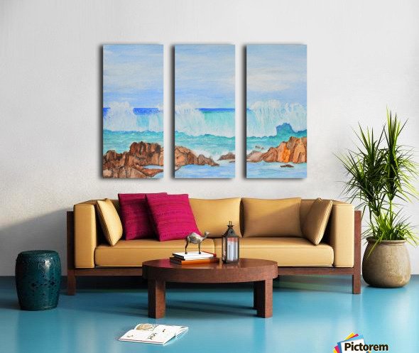 Ocean Wave Split Canvas print