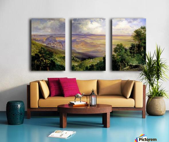 Valley of Cuernavaca Split Canvas print