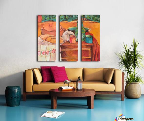 G116 NATURA STATICA CU STERGAR 50X60 ULEI PE CARTON 4000 Split Canvas print