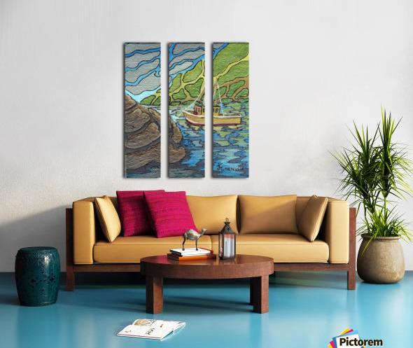 Little Harbor View Split Canvas print