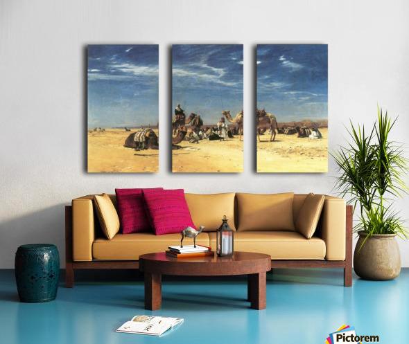 Rast in der Araba Split Canvas print