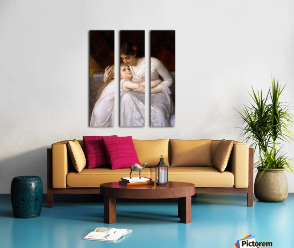 Mother and child Split Canvas print