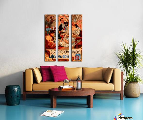 Biscuits Champagne, Lefevre-Utile Split Canvas print