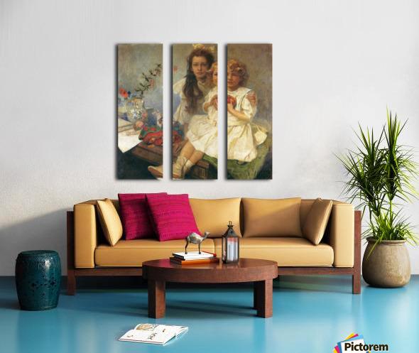 Jaroslava and Jiri Split Canvas print