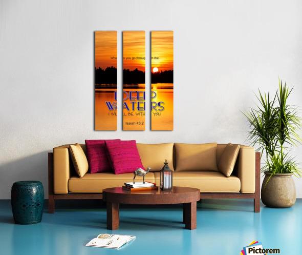 Deep Water Split Canvas print