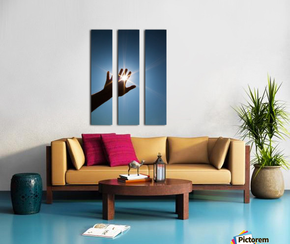 Hand Sunburst Split Canvas print