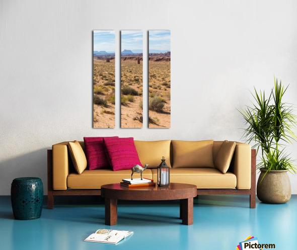 Toward Factory Butte Split Canvas print