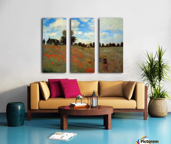 Les Coqueliquots Split Canvas print