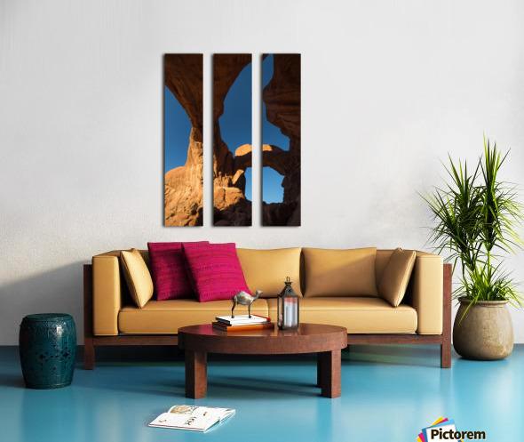 Below Double Arch Split Canvas print