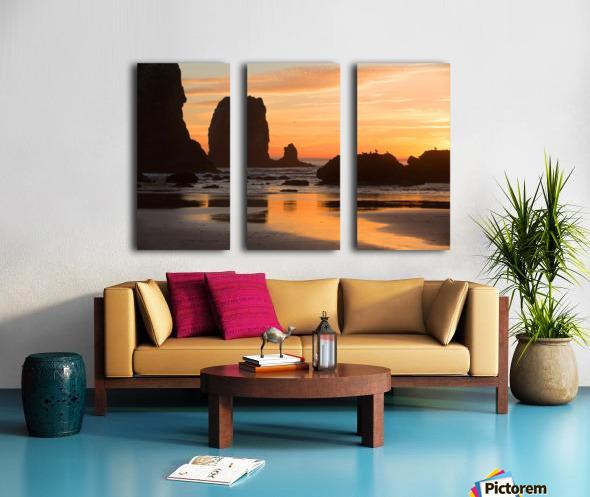 Pacific Afterglow Split Canvas print
