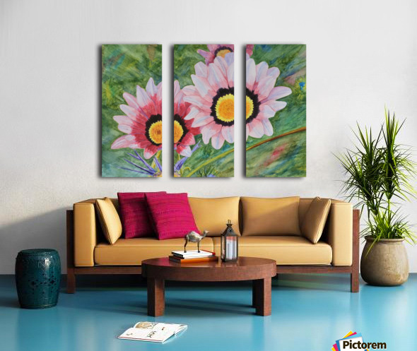 Two Daisies Split Canvas print