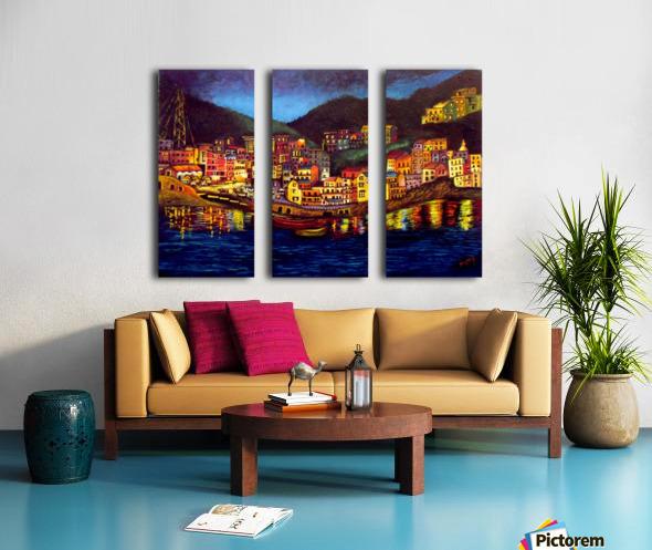 Cinique Terre Impression Split Canvas print