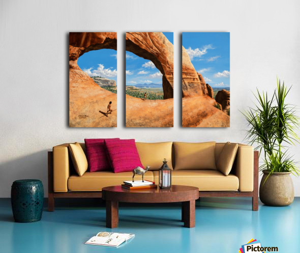 Discoverers of Wilson Arch Split Canvas print