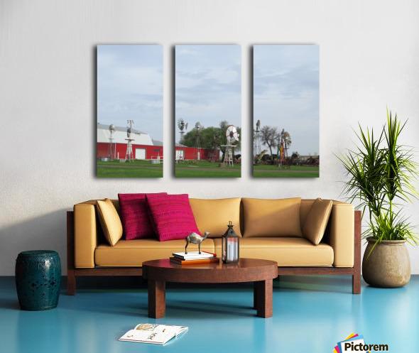 Windmills in Elk City, OK Split Canvas print
